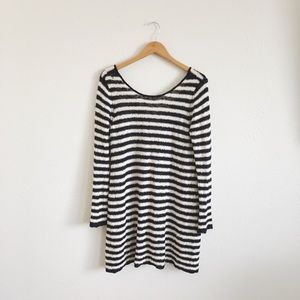 Free People Striped Tunic Sweater Dress